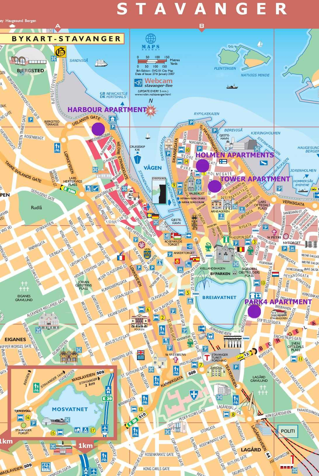 kart over stavanger sentrum Stavanger Accommodation   .stavangerpark.  Apartments  kart over stavanger sentrum